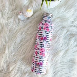 ❌SOLD❌ SS White thermos purple pink flower stripes